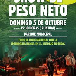 """Este domingo, Show de Peso Neto en el Parque """"Domingo F. Sarmiento"""""""