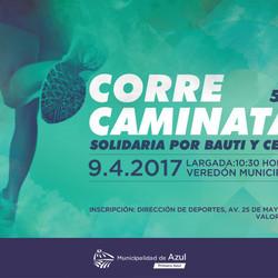 El domingo se realiza una correcaminata solidaria por Bauti y Cefe
