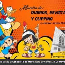 Muestra de diarios, revistas y clipping de historietas en el Cultural San Martín