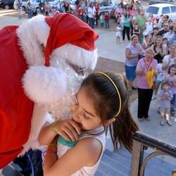 Papá Noel estará saludando a los chicos en esta Navidad
