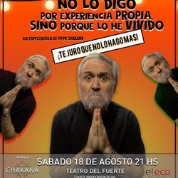 Pepo Sanzano en el Teatro del Fuerte