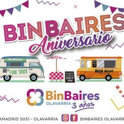 Feria, música y Food Trucks para festejar el Aniversario de Binbaires