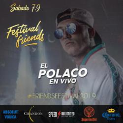 El Polaco llega a la ciudad para el Festival Friends