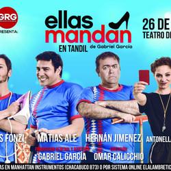 """Llega """"Ellas mandan"""", una obra con Tomas Fonzi, Matias Alé, Hérnan Jiménez y Antonela Lorenzo"""
