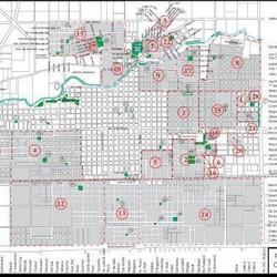 Mapa de barrios de Azul