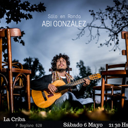 Abi González realizará un show solista en La Criba