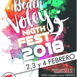 Beach Voley Night Fest 2018
