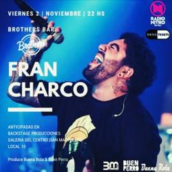 Este viernes, Fran Charco en Brothers Bar