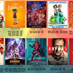 Cartelera de cine del Espacio Incaa Unicen