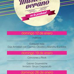 Música en Verano: el próximo domingo se presentarán los hermanos Goyenetche y el grupo Crepúsculo en la Peatonal