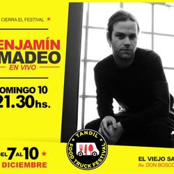 Benjamín Amadeo cerrará el Tandil Food Truck Festival #2