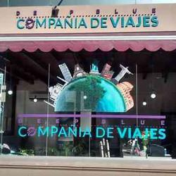 """""""Deep Blue"""" Compañía de viajes"""