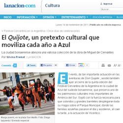 El Festival Cervantino en el centro de la escena para el diario La Nación