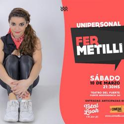 Fernanda Metilli vuelve con su Unipersonal a la ciudad