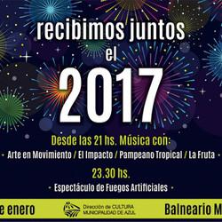 Festejo para recibir el 2017 en el Balneario Municipal