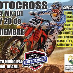 Azul recibe el Campeonato Provincial de Motocross MX 101