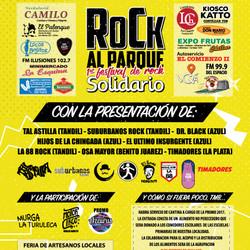 """Rock Al Parque """"1º Festival de rock Solidario"""" en Chillar"""