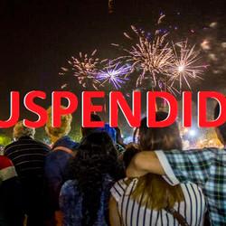Se suspendieron los fuegos artificiales por el inminente cierre de FANAZUL
