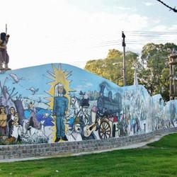 Mural sobre la historia de Azul