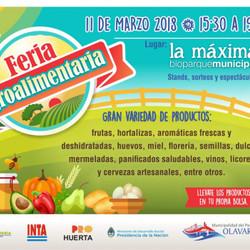 Se realizará una nueva Feria Agroalimentaria