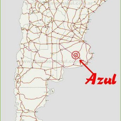 Mapa de rutas Argentinas - ¿Como llegar a Azul?