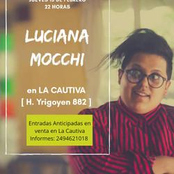 Luciana Mocchi en La Cautiva!