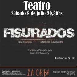 "La obra ""Fisurados"" se presenta en La Criba"