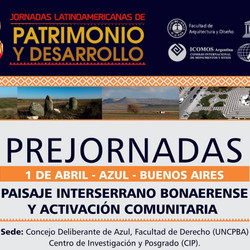 Prejornadas Paisaje interserrano Bonaerense y Activación Comunitaria