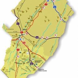 Mapa del Partido de Azul