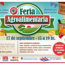 Se realizará nuevamente la Feria Agroalimentaria