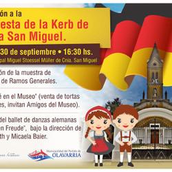 A fines de septiembre tendrá lugar la 136° Fiesta de la Kerb