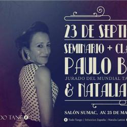 Nuevo seminario del Ciclo de Maestros de Tango