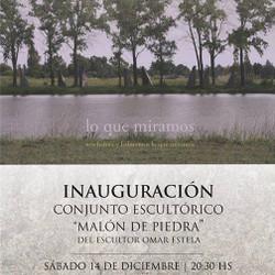 """El próximo sábado 14 se realizará la inauguración del complejo escultórico """"Malón de piedra"""""""