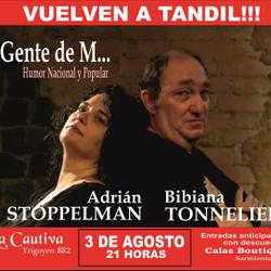 """""""Gente de M..."""" Adrián Stoppelman y Bibiana Tonnelier"""