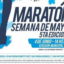 El 4 de junio se realizará la 5° Maratón Semana de Mayo